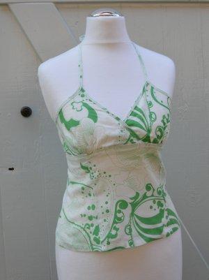 H&M Corpetto bianco-verde bosco Lino