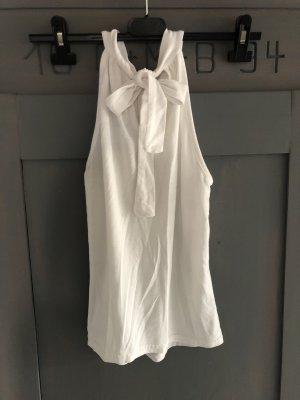 H&M Neckholder Shirt Top Gr. 34 xs weiss