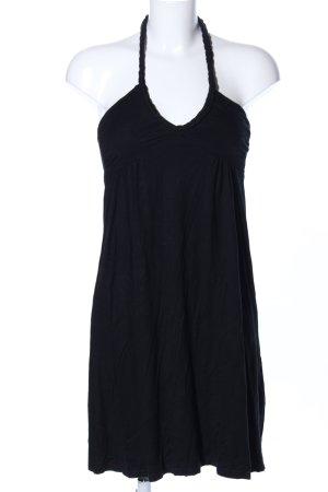 H&M Neckholderkleid schwarz Casual-Look