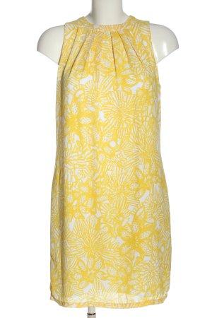 H&M Neckholderkleid blassgelb-weiß abstraktes Muster Casual-Look
