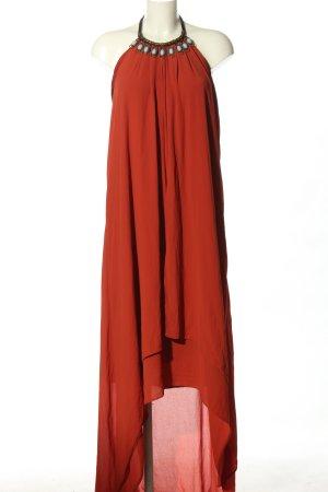 H&M Sukienka z dekoltem typu halter czerwony Elegancki
