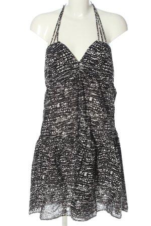 H&M Neckholderkleid schwarz-weiß abstraktes Muster Elegant