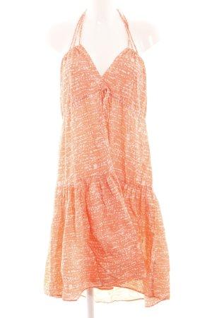 H&M Sukienka z dekoltem typu halter jasny pomarańczowy-biały W stylu casual