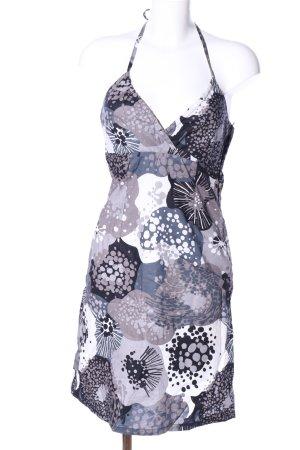 H&M Neckholderkleid blau-hellgrau Blumenmuster Casual-Look