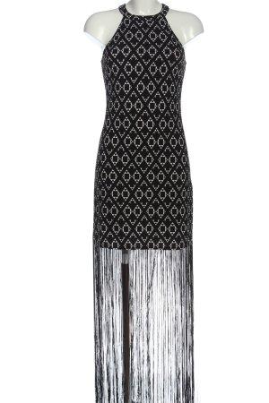 H&M Halter Dress black-white allover print elegant