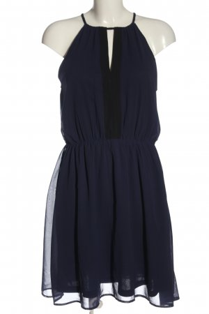 H&M Neckholderkleid blau Elegant