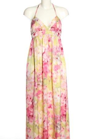 H&M Neckholderkleid pink-blassgelb Allover-Druck Casual-Look