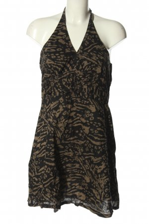 H&M Halter Dress black-brown abstract pattern casual look