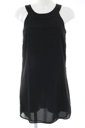 H&M Vestido de cuello Halter negro look casual