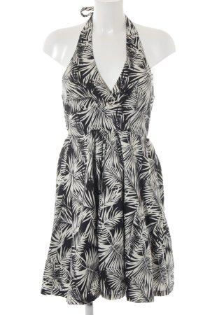 H&M Robe dos-nu noir-blanc cassé style décontracté