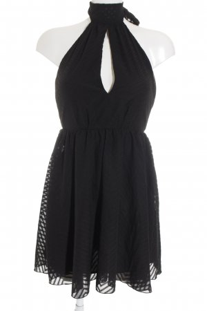 H&M Neckholderkleid schwarz Elegant