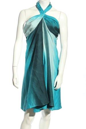 H&M Vestido de cuello Halter turquesa elegante