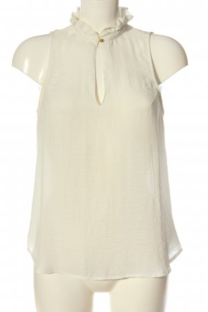 H&M Top z dekoltem typu halter w kolorze białej wełny Elegancki