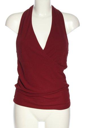 H&M Top z dekoltem typu halter czerwony Elegancki