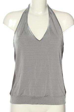H&M Top estilo halter color plata elegante