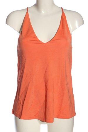 H&M Top senza maniche arancione chiaro stile casual