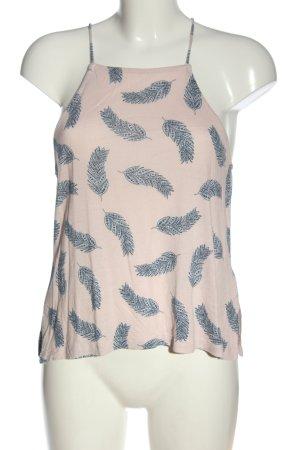 H&M Top z dekoltem typu halter różowy-niebieski Na całej powierzchni