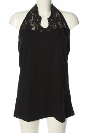 H&M Neckholdertop schwarz Business-Look