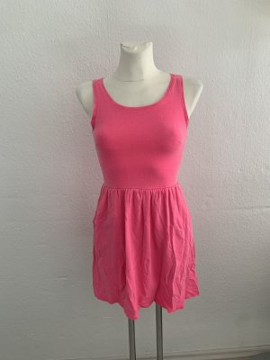 H&M Neon Pink Sommerkleid XS