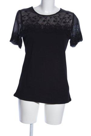 H&M Camisa de malla negro look casual