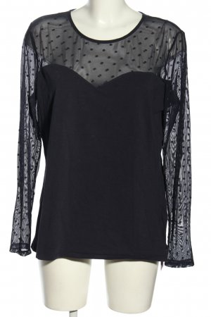 H&M Top maillé noir motif de tache style décontracté