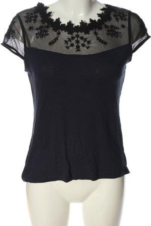 H&M Siateczkowa koszulka niebieski-czarny W stylu casual