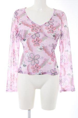 H&M Top maillé rose-gris clair imprimé allover élégant