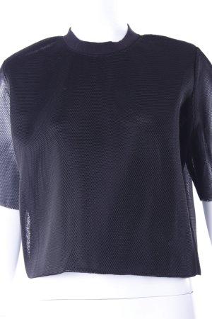 H&M Netzshirt schwarz