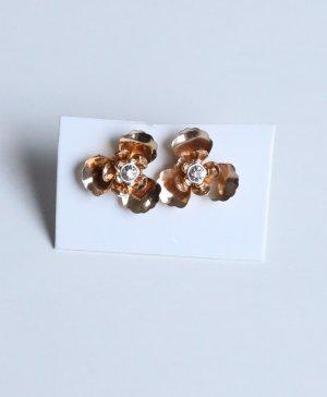 H&M * NEU * Ohrringe gold Blüten