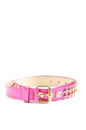 H&M Studded Belt pink wet-look