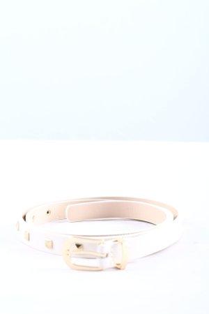 H&M Ceinture cloutée blanc élégant