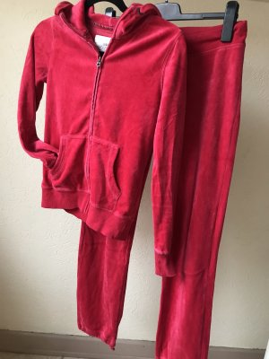 H&M Basic Leisure suit neon red-raspberry-red
