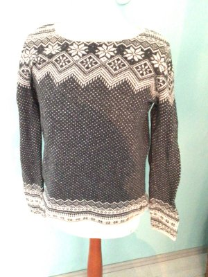 L.O.G.G. H&M Norwegian Sweater anthracite-oatmeal