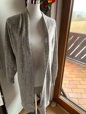 H&M Cardigan lungo smanicato grigio-grigio chiaro