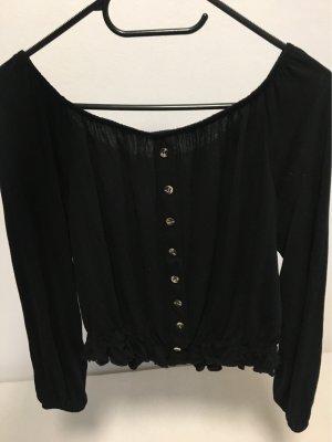 H&M Top sin hombros negro
