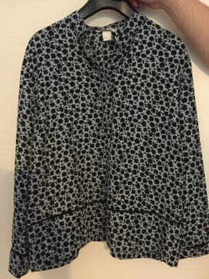 H&M Camisa tipo Carmen gris-negro