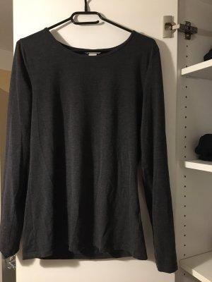 H&M Boatneck Shirt dark grey