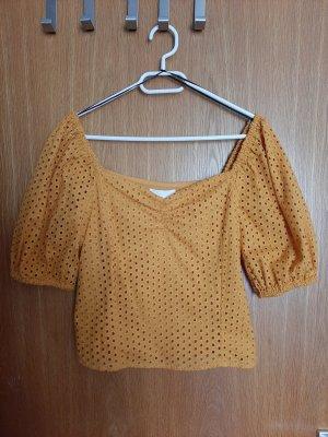 H&M Carmen Blouse gold orange
