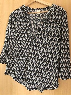 H&M Oberteil, schwarz/weiß, gemustert