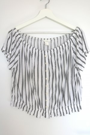 H&M Carmen shirt wit-wolwit Viscose