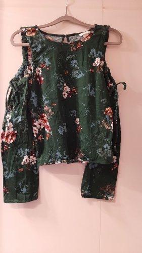 H&M Carmen shirt veelkleurig Katoen