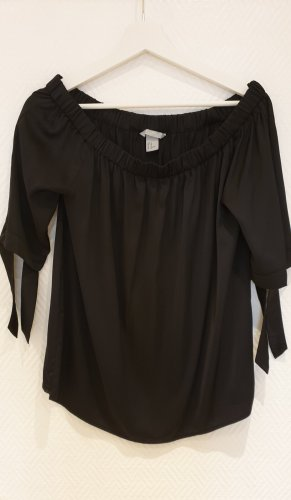 H&M Bluzka typu carmen czarny