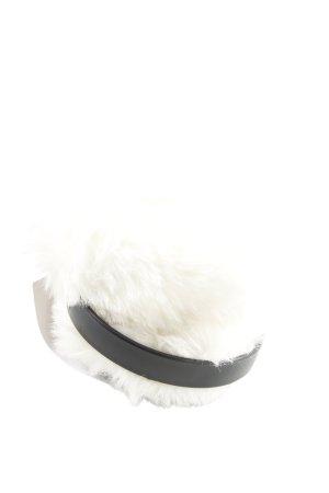H&M Cache-oreilles blanc-noir style décontracté