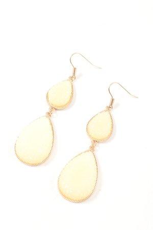 H&M Pendant d'oreille doré-blanc cassé style décontracté