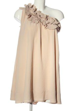 H&M Sukienka na jedno ramię kremowy Elegancki