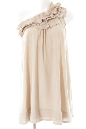 H&M One-Shoulder-Kleid creme-nude Elegant