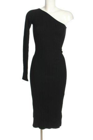 H&M One-Shoulder-Kleid schwarz Casual-Look