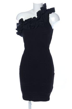 H&M Vestido de un hombro negro elegante