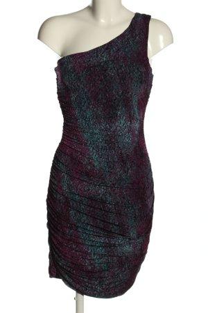H&M One-Shoulder-Kleid Allover-Druck Elegant