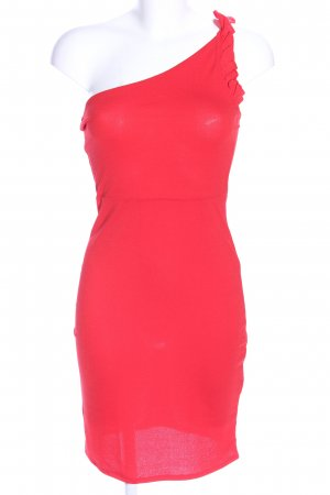 H&M Vestido de un hombro rojo elegante